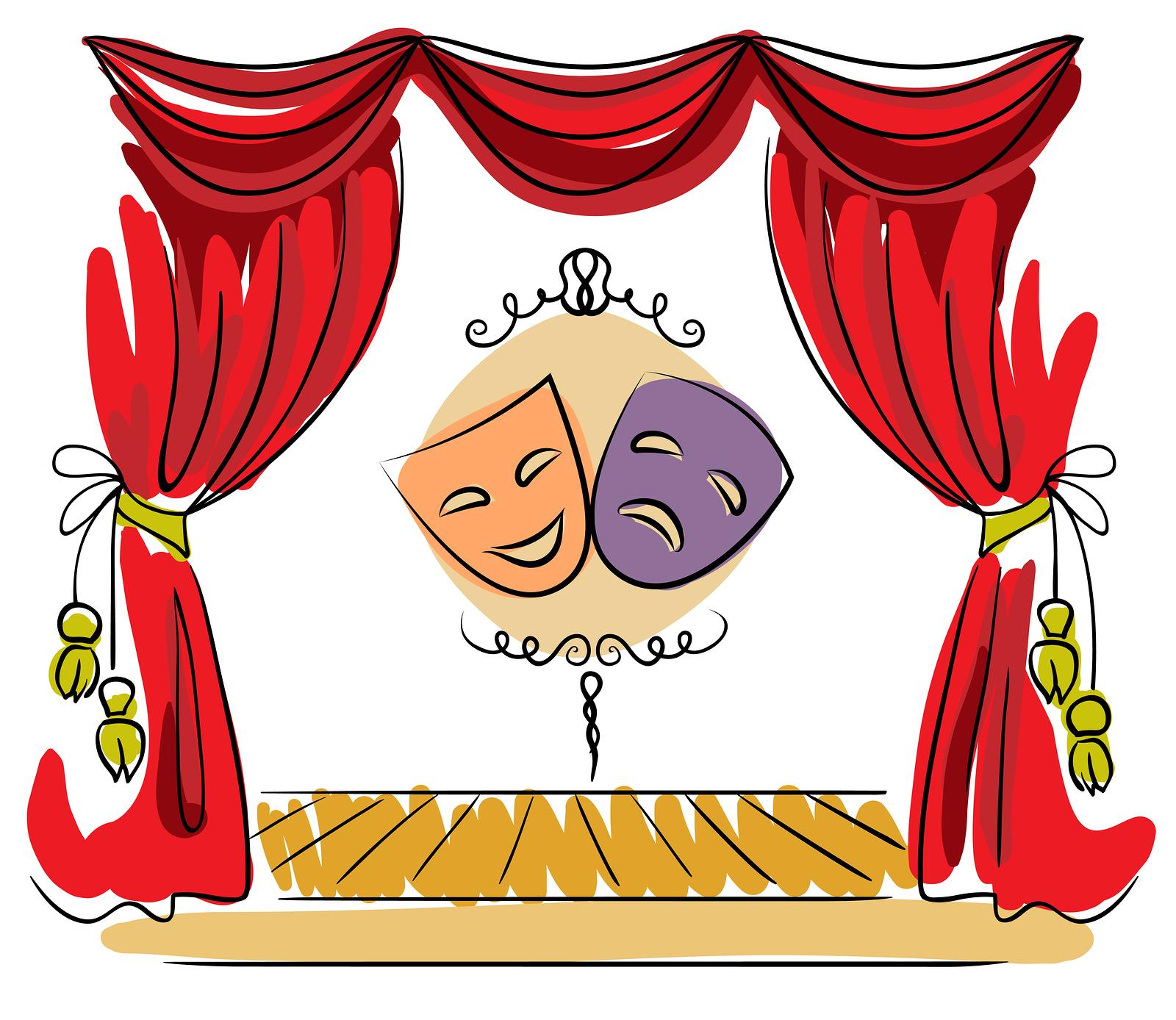 Рисунки с театральным занавесом